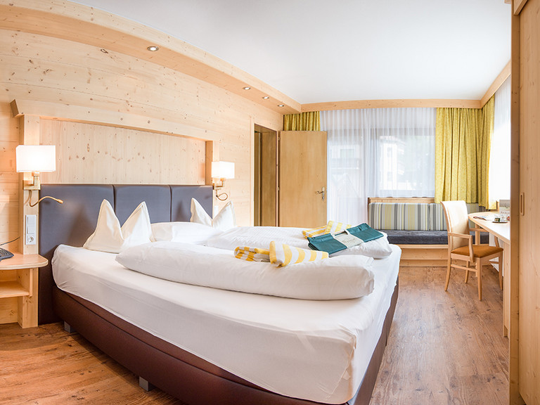 Bedrooms at the Family and Vitality Hotel Auenhof